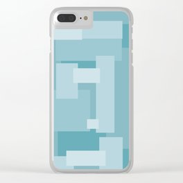 Matted Shades of Blue - Color Therapy Clear iPhone Case