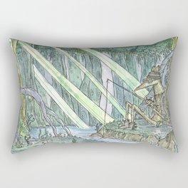 The Bunyip by the Billabong Rectangular Pillow