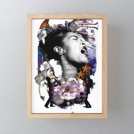 Billie Holiday Art Jazz Singer Powerful Women African American Women Music Art Framed Mini Art Print