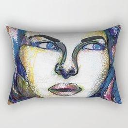 Pop Art Woman Rectangular Pillow