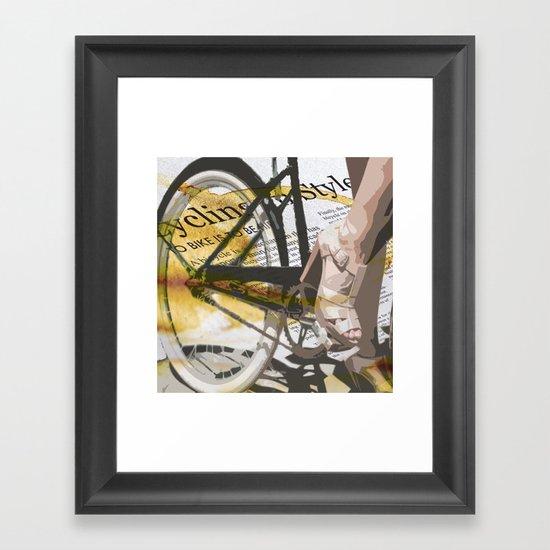 Bike Urban Chic Framed Art Print