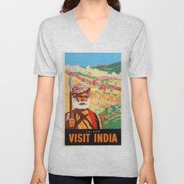 Jaipur the Pink City Unisex V-Neck