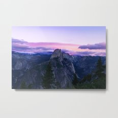 The Mountains and Purple Clouds Metal Print