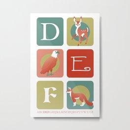 DEF Metal Print
