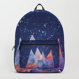Mountains by night Backpack