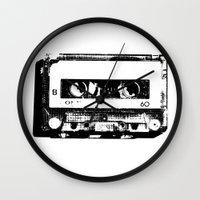 cassette Wall Clocks featuring cassette by Gabriel