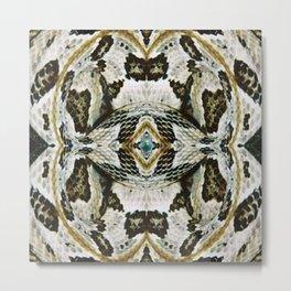 White Timber Snake Metal Print