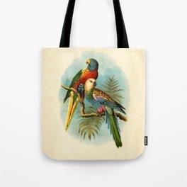 Vintage Parrots Tote Bag