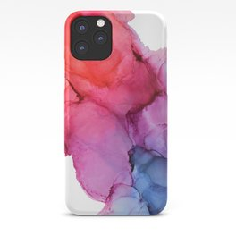 Bleeding Rainbow Blend - Alcohol Ink Painting iPhone Case