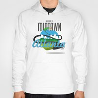 atlanta Hoodies featuring Midtown Atlanta by Niels Revers Design