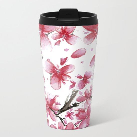 Cherry Blossoms #society6 #buyart Metal Travel Mug