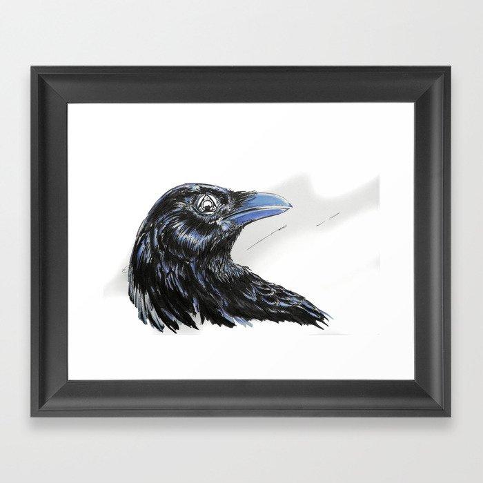 RHX Raven Logo Framed Art Print