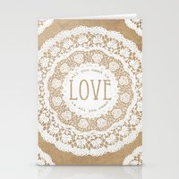 all you need is love Stationery Cards featuring All You Need is Love by Jenndalyn