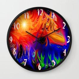 Cosmic colors Wall Clock
