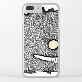 Scribbly monster Clear iPhone Case