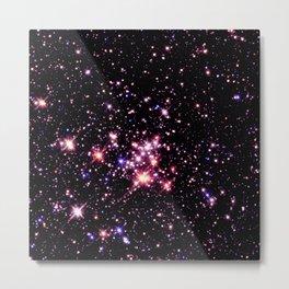 Quintuplet Cluster Pink Coral Violet Metal Print