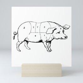 Parts of a Pig Mini Art Print
