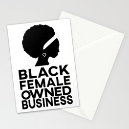 Black female owned business Stationery Cards