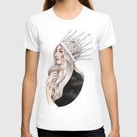 silver T-shirts featuring Silver Blonde by Helen Green