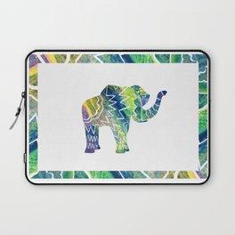 Patchwork Elephant Laptop Sleeve