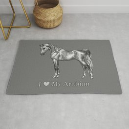 Dapple Gray Horse I Love My Arabian Rug