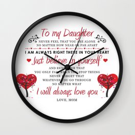 To My Daughter Wall Clock