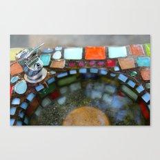 Mosiac Water Fountain Canvas Print