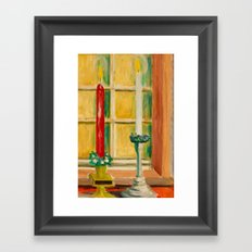 Candles painting Framed Art Print