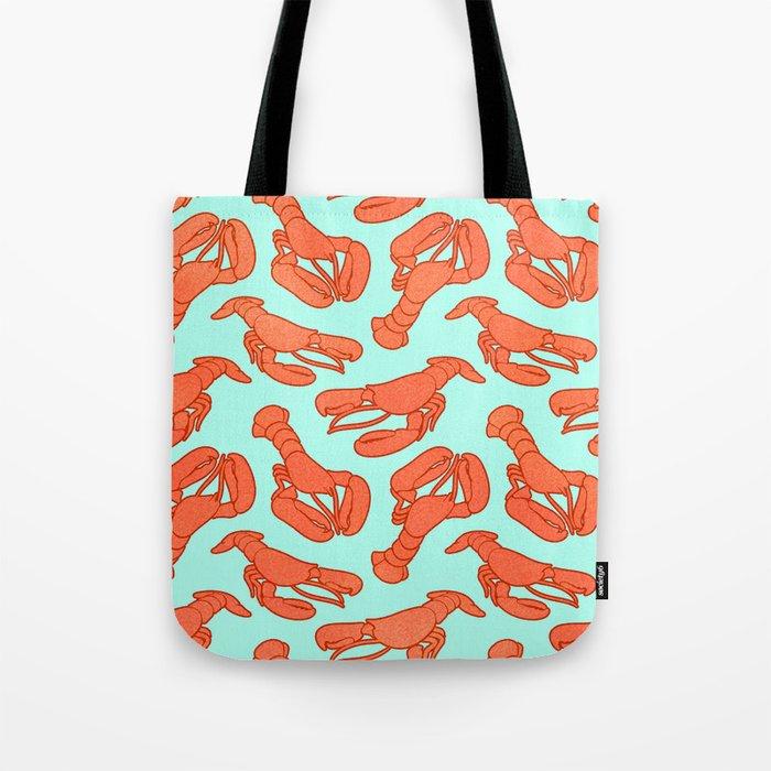 Lobster addiction pattern Tote Bag