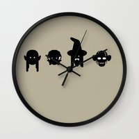 legolas Wall Clocks featuring legolas, frodo, gandalf & gollum by atipo