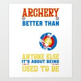 Archery Shirt For Grandson. Gift Ideas Art Print