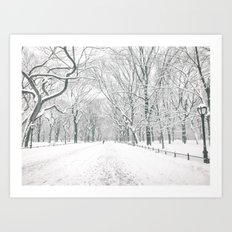 New York City Snow Art Print