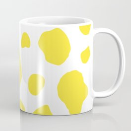 Yellow Cow Print Background Coffee Mug