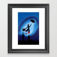 Magical night : Mary Poppins Framed Art Print