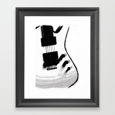Guitar Iceman Framed Art Print