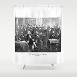 Our Presidents 1789 - 1881 Shower Curtain