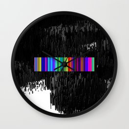 Colorful bar code Wall Clock