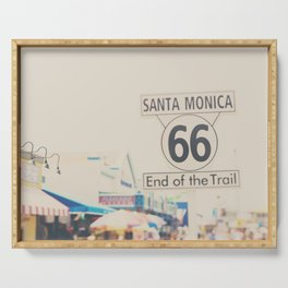 the end of route 66 ... Serving Tray