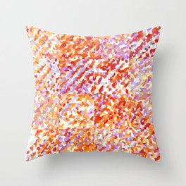 Orange & Lavender Delight - Squares Throw Pillow