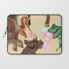 Playful Dinosaur Bubble Gum Gang Laptop Sleeve