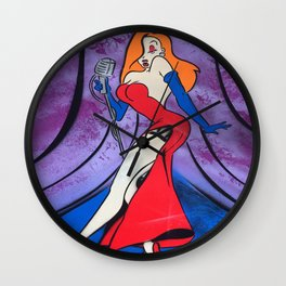 Jessica Rabbit Spray Painting Wall Clock