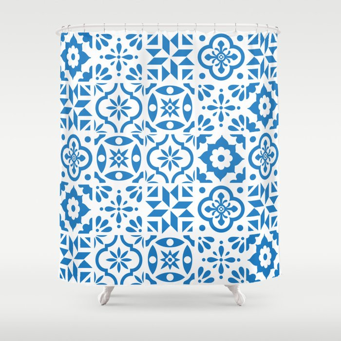 Spanish Tiles Shower Curtain By Morrisessex