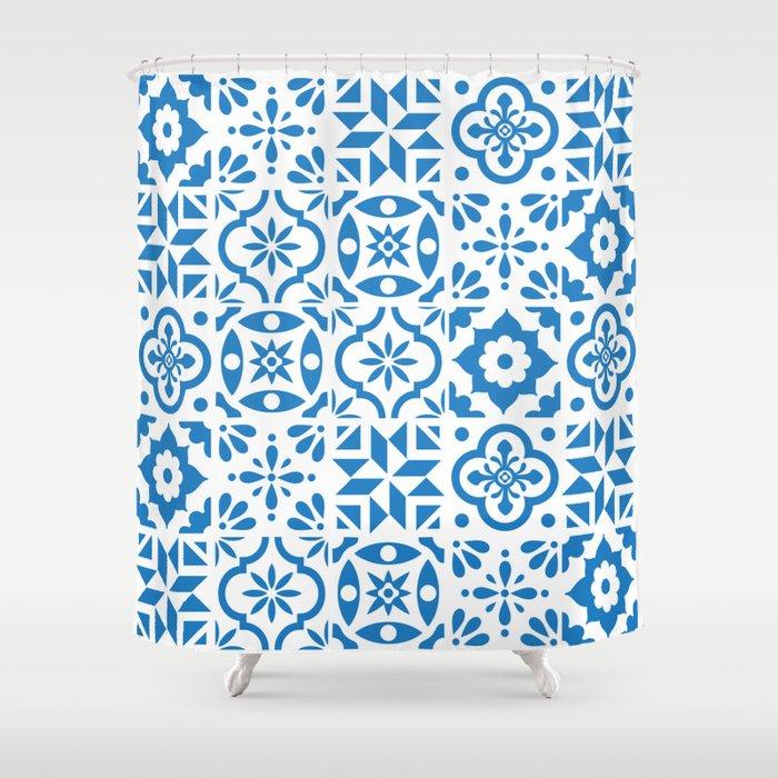 Spanish Tiles Shower Curtain