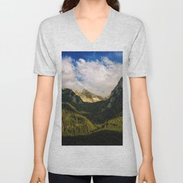 All That Is Above - Mountainscape Unisex V-Neck