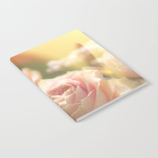 Bunch of pink Roses at backlight- Rose Flowers Notebook