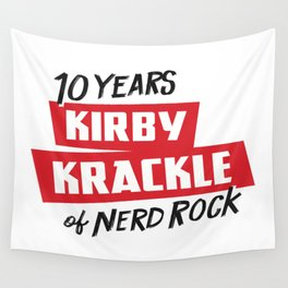 Kirby Krackle - 10th Anniversary Logo Wall Tapestry