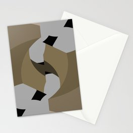 Fractal in Browns and Black Stationery Cards