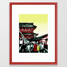 Asakusa Framed Art Print