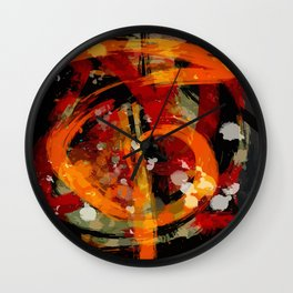Into the dragon abstract  art Wall Clock
