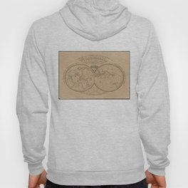 Vintage Map of The World (1839) Hoody